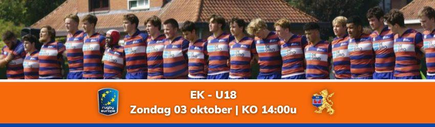 Jong Oranje treedt aan op Europe Championship U18